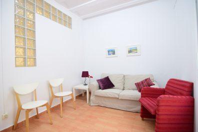 Ref 2207 – Apartament en lloguer a la zona del Raval, Barcelona. 52m2